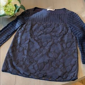 Tory Burch lace overlay top size XS